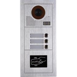 VIDEOCITOFONO 2 FILI 1 2 3 4 MONITOR LCD TOUCH FAMILIARE BIFAMILIARE CONDOMINIALE TELECAMERA (1 Unita Esterna Trifamiliare)