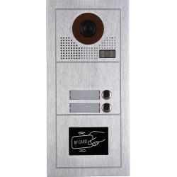 VIDEOCITOFONO 2 FILI 1 2 3 4 MONITOR LCD TOUCH FAMILIARE BIFAMILIARE CONDOMINIALE TELECAMERA (1 Unita Esterna Bifamiliare)