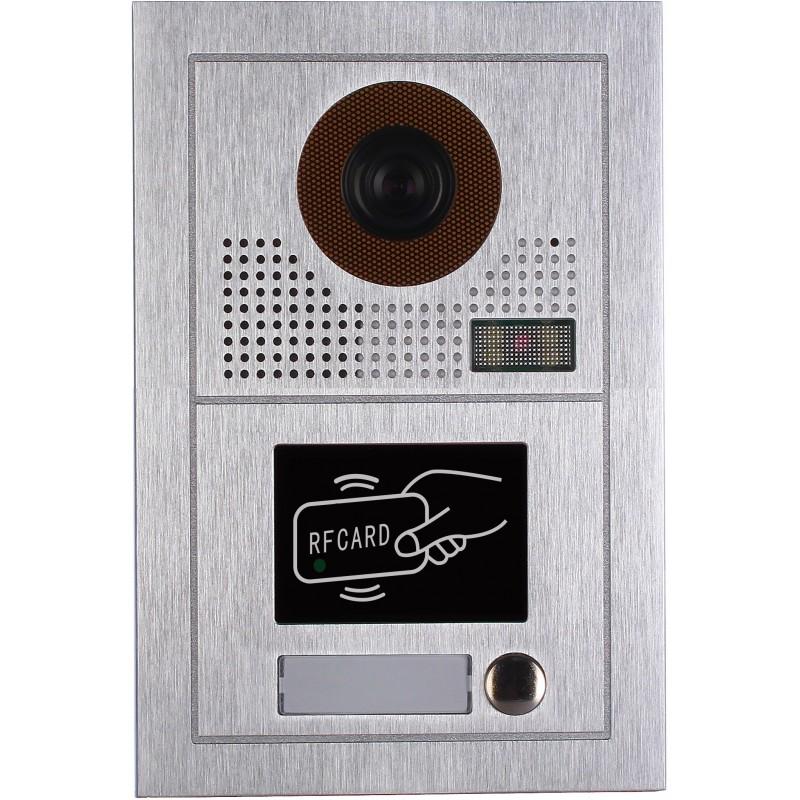 VIDEOCITOFONO 2 FILI 1 2 3 4 MONITOR LCD TOUCH FAMILIARE BIFAMILIARE CONDOMINIALE TELECAMERA (1 Unita Esterna Monofamiliare)