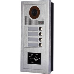 VIDEOCITOFONO 2 FILI 1 2 3 4 MONITOR LCD TOUCH FAMILIARE BIFAMILIARE CONDOMINIALE TELECAMERA (1 Unita Esterna Quadrifamiliare)