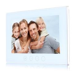 """VIDEOCITOFONO 2 FILI 1 2 3 4 MONITOR LCD TOUCH FAMILIARE BIFAMILIARE CONDOMINIALE TELECAMERA (1 Monitor 10"""" Bianco)"""