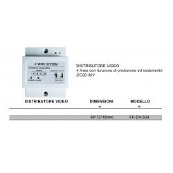 VIDEOCITOFONO 2 FILI 1 2 3 4 MONITOR LCD TOUCH FAMILIARE BIFAMILIARE CONDOMINIALE TELECAMERA (1 Distributore Video)