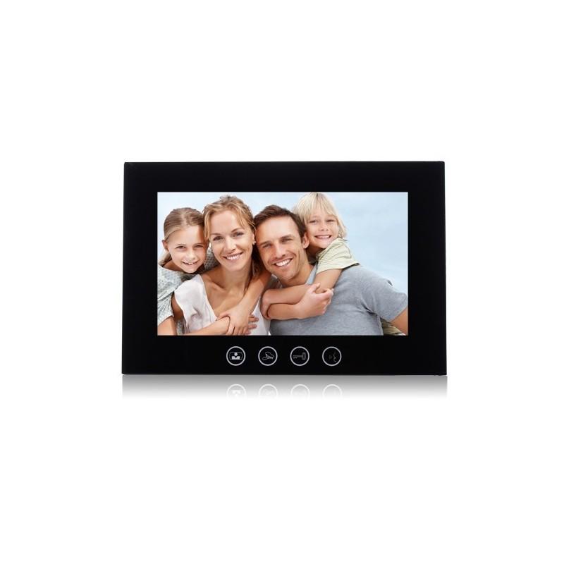 """VIDEOCITOFONO 2 FILI 1 2 3 4 MONITOR LCD TOUCH FAMILIARE BIFAMILIARE CONDOMINIALE TELECAMERA (1 Monitor 10"""" Nero)"""