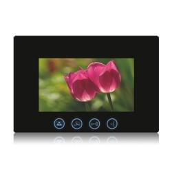 """VIDEOCITOFONO 2 FILI 1 2 3 4 MONITOR LCD TOUCH FAMILIARE BIFAMILIARE CONDOMINIALE TELECAMERA (1 Monitor 7"""" Nero)"""
