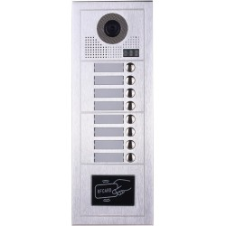VIDEOCITOFONO 2 FILI 1 2 3 4 MONITOR LCD TOUCH FAMILIARE BIFAMILIARE CONDOMINIALE TELECAMERA (1 Unita Esterna Ottofamiliare)