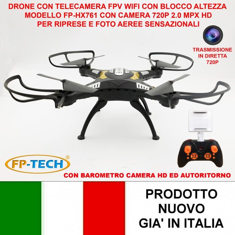 DRONE QUADRICOTTERO RADIOCOMANDATO CAMERA HD