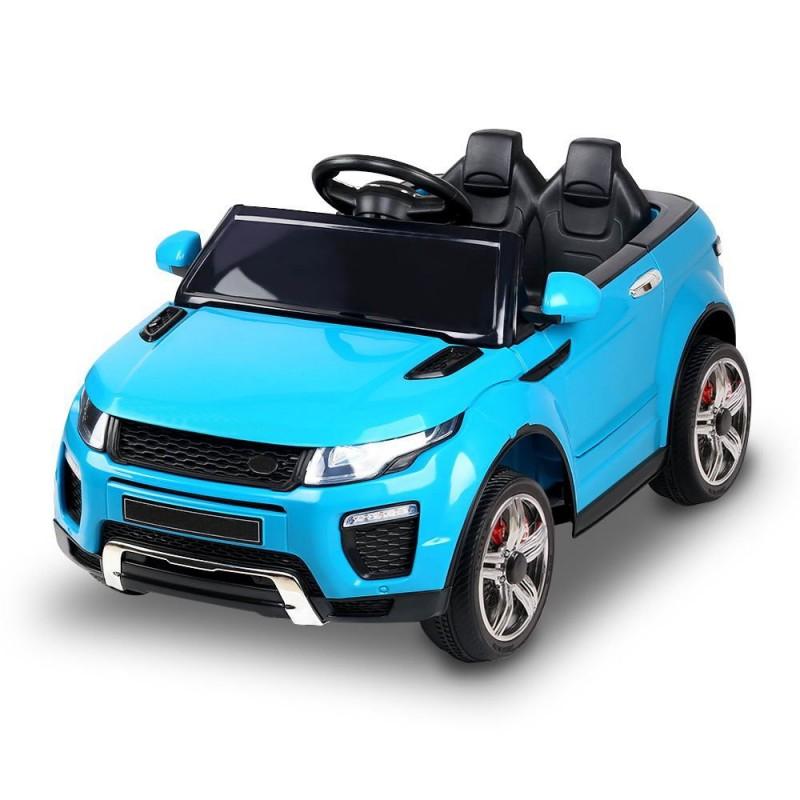 AUTO ELETTRICA PER BAMBINI MACCHINA SUV 2 POSTI 2WD 12V CON TELECOMANDO USB MP3 BLU