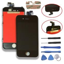 TOUCH SCREEN DISPLAY LCD RETINA SCHERMO E VETRO + FRAME PER APPLE IPHONE 4S NERO CON ADESIVO E ATTREZZI DI SMONTAGGIO