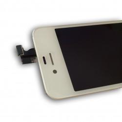 TOUCH SCREEN DISPLAY LCD RETINA SCHERMO E VETRO + FRAME PER APPLE IPHONE 4S BIANCO CON ADESIVO E ATTREZZI DI SMONTAGGIO