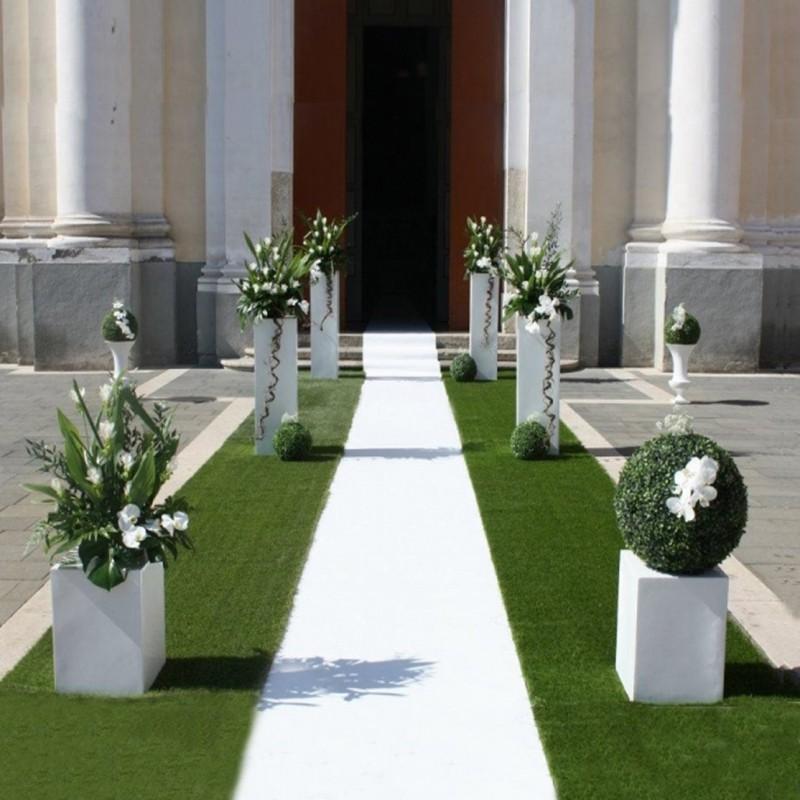 Matrimonio In Bianco : Tappeto nuziale bianco con pellicola passatoia per matrimonio