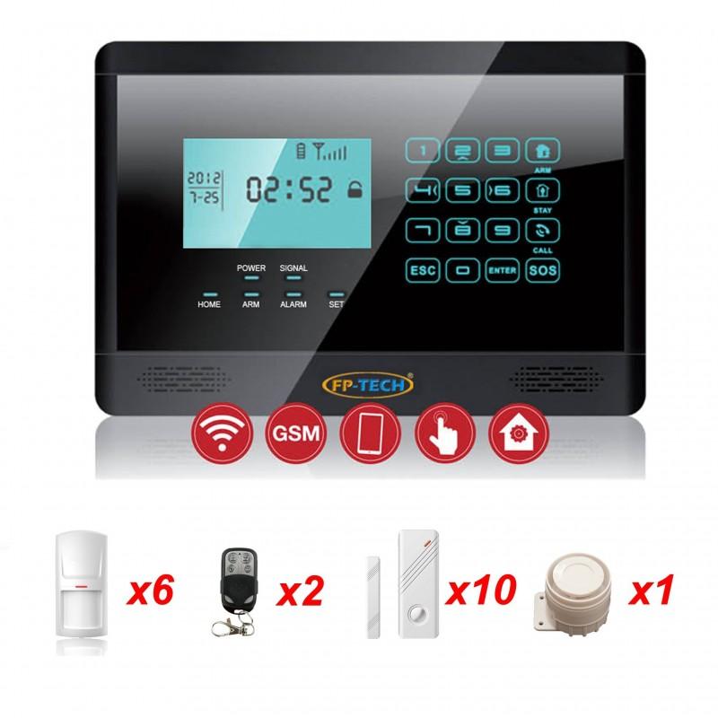 Antifurto nero allarme touch screen casa kit combinatore - App per antifurto casa ...