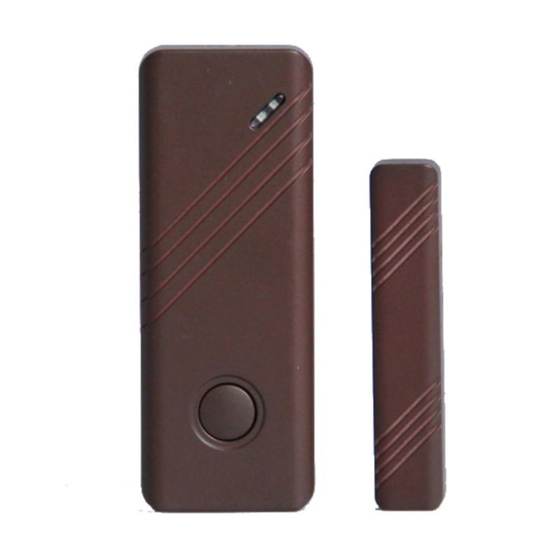 Sensore magnetico marrone porte e finestre wireless allarme - Antifurto porte e finestre ...