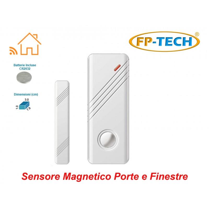 Sensore magnetico porte e finestre wireless allarme - Antifurto porte e finestre ...