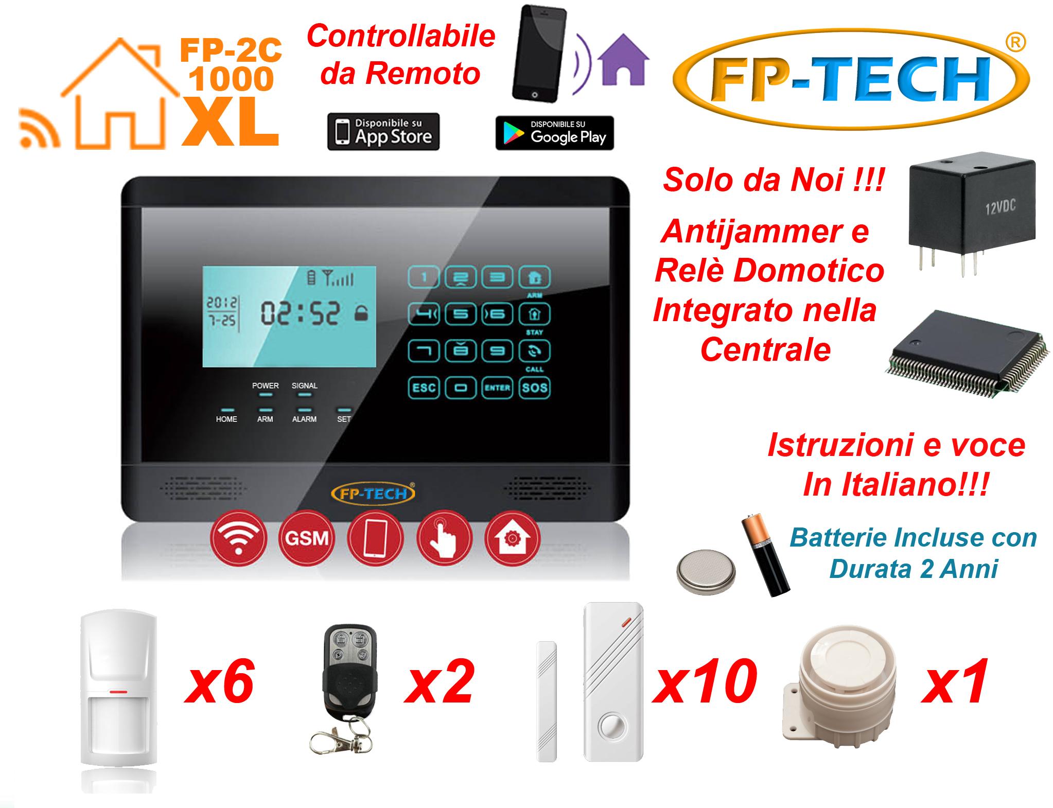 Antifurto allarme touch screen casa kit combinatore gsm - App per antifurto casa ...