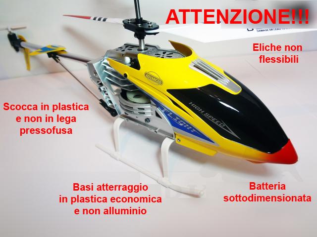 Elicottero Sinonimo : Elicottero radiocomandato canali super resistente per