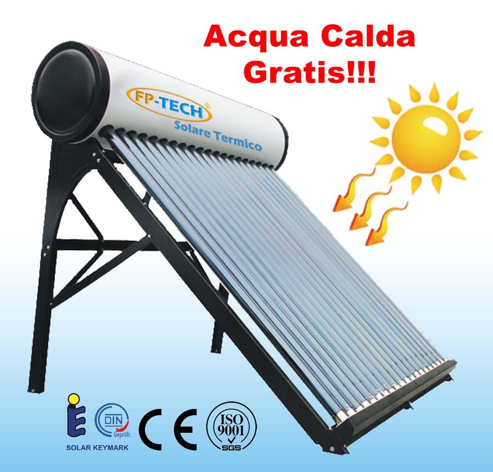 Pannello Solare Termico Homemade : Pannello solare termico acqua calda acciaio inox lt