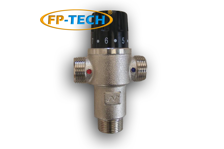 Miscelatore termostatico 3 4 per impianto solare termico o caldaia acqua calda ebay for Riscaldatore di acqua calda del cpvc