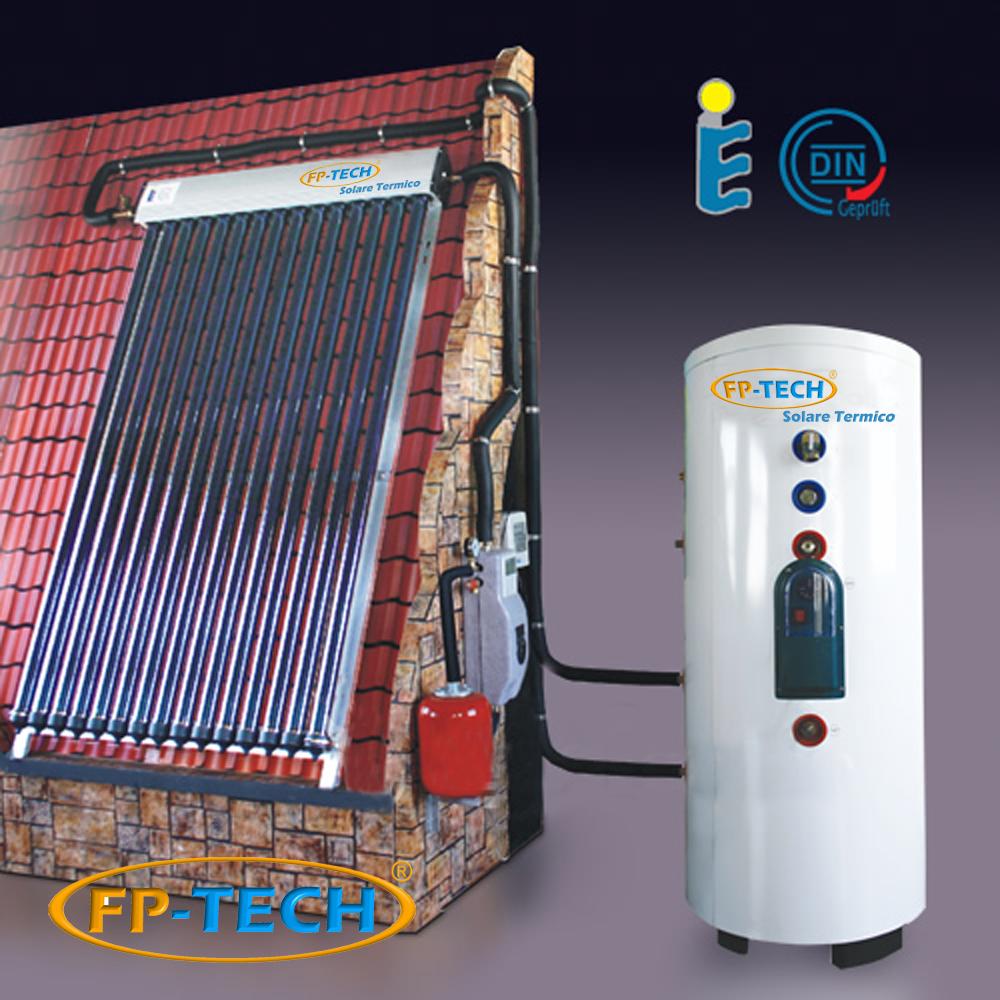 Pannello Solare Termico Sottovuoto Prezzi : Kit pannello solare termico lt circolazione forzata
